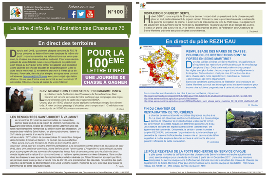 100 newsletter